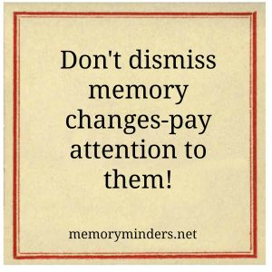 Memory changes