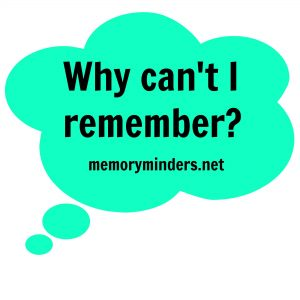 Why can't I remember