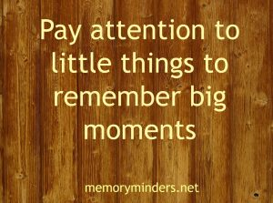 pay attention to little